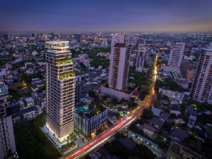 THE FINE Bangkok Thonglor-Ekamai by Sankyo Home (Thailand) and Keihan Real Estate is located along Ekkamai Soi 12 and a short distance away from Thong Lor Soi 12. The developers and architects are Japanese and this building will be an iconic development in the heart of the Thong Lor and Ekkamai area.